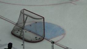Hockey utfärda utegångsförbud för closeupen lager videofilmer