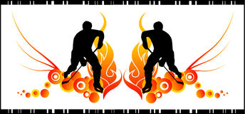Hockey vector composition stock illustration