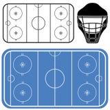 Hockey. Vector illustration (EPS 10 Royalty Free Stock Photo