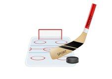 Hockey. Vector illustration of hockey objects Stock Photography