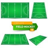 Hockey - vier puntenmalplaatje royalty-vrije illustratie