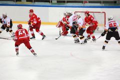 Hockeyabgleichung   Stockfotos