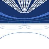 Hockeyarena Het beeld van de kleur stock illustratie