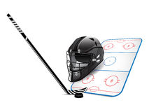 Hockeyauslegungelemente Stockbild