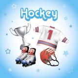 Hockeyausrüstungsausrüstung Stockbild