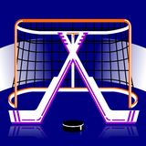 Hockeyembleem in vector Stock Foto's