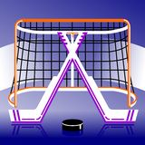 Hockeyembleem in vector Stock Afbeeldingen
