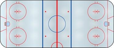 Hockeyfeld Lizenzfreie Stockfotos