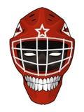 Hockeygoaliehjälm med den onda framsidan inom Royaltyfri Illustrationer