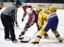 hockeyismatch Arkivbild