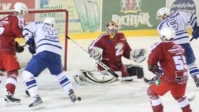 hockeyismatch Royaltyfri Bild