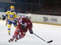 hockeyismatch royaltyfria foton