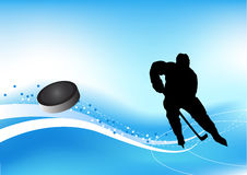 hockeyisspelare Stock Illustrationer