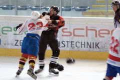 Hockeykampf Stockfoto