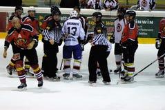 Hockeykampf Lizenzfreie Stockfotos