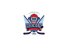 Hockeykenteken Logo Design Grafieksport Team Identity Label Stock Afbeeldingen