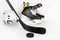 Hockeykugghjul med copyspace Fotografering för Bildbyråer
