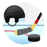 Hockeylek Arkivbild