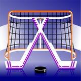 Hockeylogo im Vektor Stockbilder