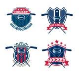 Hockeylogosatz Stockfotografie
