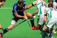 Hockeymäns Argentina spelar Sydafrika Arkivfoton