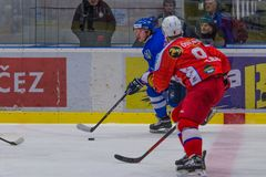 Hockeymatch stockfoto