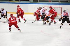 hockeymatch arkivfoton