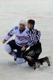 Hockeymatch Lizenzfreie Stockfotos