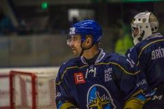 Hockeymatch - Rytiri Kladno gegen HC Frydek-Mistek lizenzfreie stockfotografie