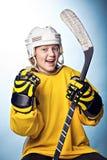 Hockeymeisje royalty-vrije stock fotografie