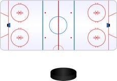 Hockeypol Royaltyfria Bilder