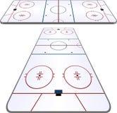 Hockeypol Arkivfoto