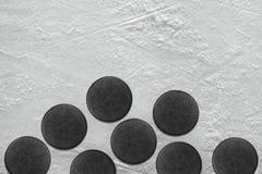 Hockeypuck Arkivfoto