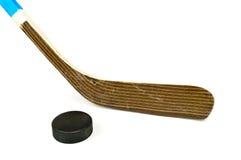 hockeypuckstick Royaltyfria Bilder
