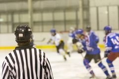 Hockeyrechter Stock Fotografie