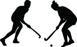 Hockeyschattenbildvektor Lizenzfreies Stockfoto