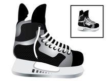 hockeyskridskor Stock Illustrationer
