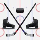 Hockeyspel Royalty-vrije Illustratie