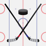 Hockeyspel Stock Illustratie