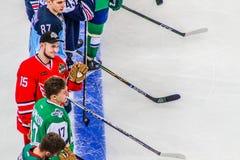 Hockeyspelare Anatoly Golyshev Arkivfoton