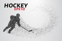 Hockeyspeler van de deeltjes Stock Foto's