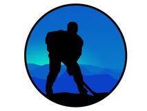 Hockeyspieler stock abbildung