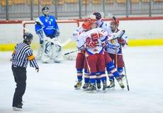 Hockeyspieler Stockfotos