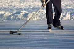 Hockeyspieler. Lizenzfreies Stockfoto