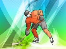 Hockeyspieler bildet einen Schuß Lizenzfreies Stockfoto