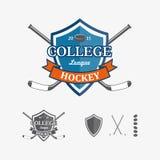Hockeysportemblem och symboler för laglogo Royaltyfri Fotografi