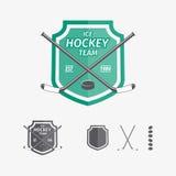 Hockeysportemblem och symboler för laglogo Arkivbild