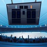 Hockeystadion royaltyfri illustrationer