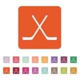 Hockeysymbolen modigt model symbol för överdängare 3d plant stock illustrationer
