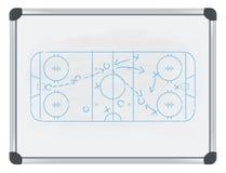 Hockeytaktik auf whiteboard Stockbild